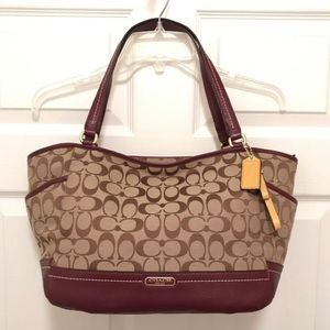 NWT Coach Maroon Park Leather Tote